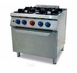Cocina a Gas 4 Fuegos 750 Horno C4F750H FAINCA HR