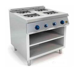 Cocina a Gas 4 Fuegos 750 Estante C4F750E HR