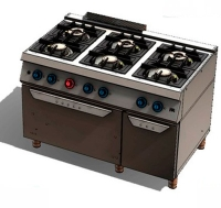 Cocina a Gas 6 Fuegos 750 Horno C6F750H HR