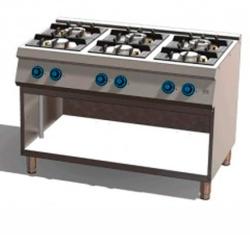 Cocina a Gas 6 Fuegos 750 Estante C6F750E Fainca HR