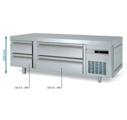 Mesa Fría GN 2/1 Bajo Cocina KBR-65 Coreco