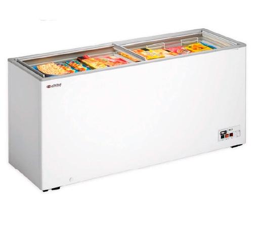 Arcon congelador puerta corredera cristal gt 58 difri for Arcon congelador a