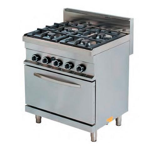 Cocina a gas 4 fuegos con horno cig4f hg fred compra for Cocina 4 fuegos con horno a gas