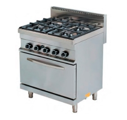 Cocina a Gas 4 Fuegos Con Horno CIG4F+HG Fred