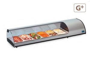 Sobrevitrina Refrigerada Tapas 6 GN Eurofred