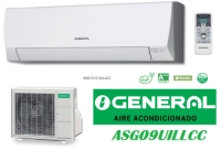 SPLIT DE PARED INVERTER MARCA GENERAL MOD. ASG-9UI LLCC